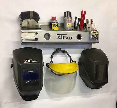 Wall Mounted Helmet and PPE Holder