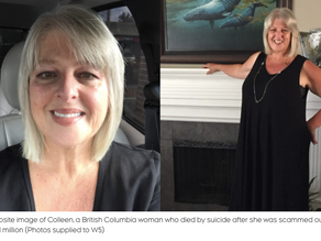 Rest in Peace Colleen. Love Fraud Victim Conned to Death