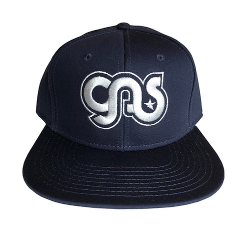 GAS Snapback hat navy and silver logo