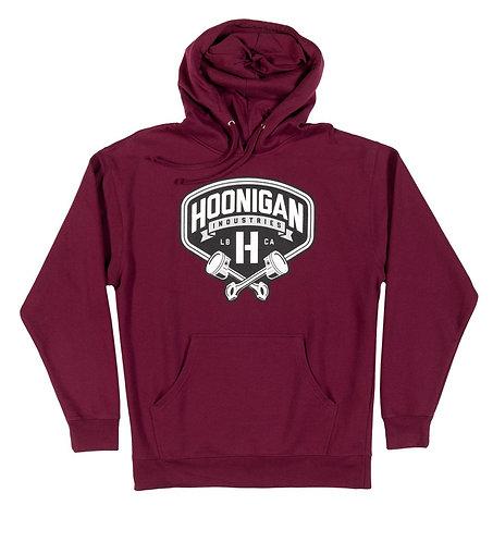 Hoonigan Pistons Hoodie Burgundy