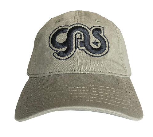 GAS Cotton hat khaki and black logo