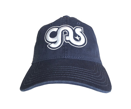 GAS Cotton hat blue and white logo