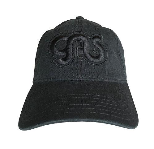 GAS Cotton hat black on black logo