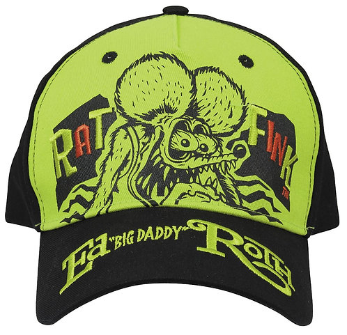 """Ed """"Big Daddy"""" Roth  Rat Fink Bright Green Embroidered Hat"""