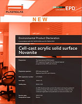 Cell-cast acrylic solid surface Novanite