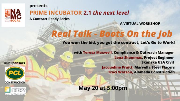 _  PRIME INCUBATOR  2.1 - Real Talk-Boot