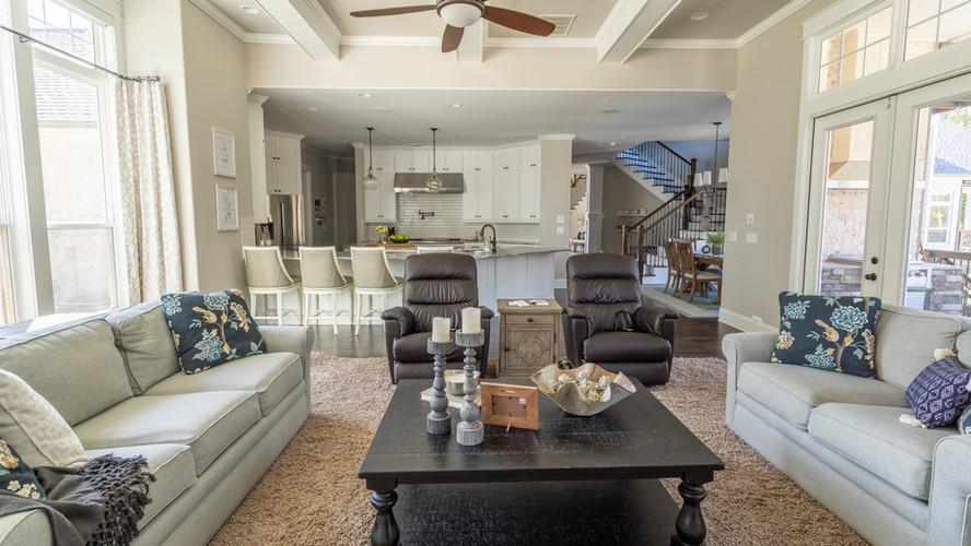 Kellytown: Living Space into Kitchen