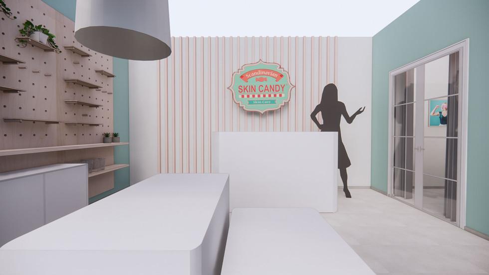 Skin Candy Shop & Salon -konseptisuunnitelma