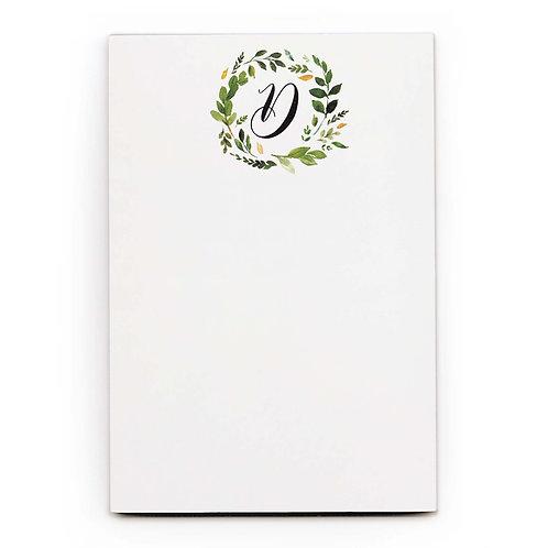 Monogram Notepad
