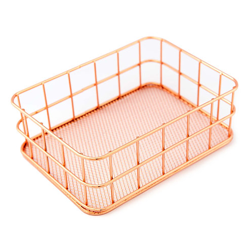 Wire Mesh Box (Rose Gold)