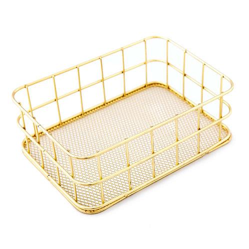 Wire Mesh Box (Gold)