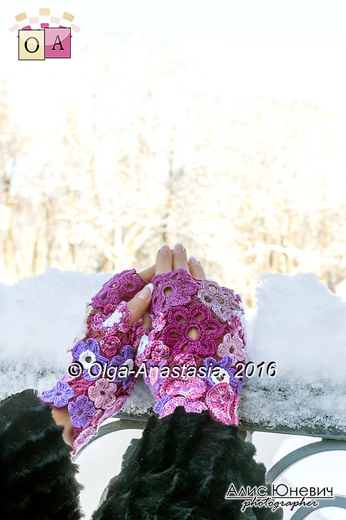 mittens Bright winter