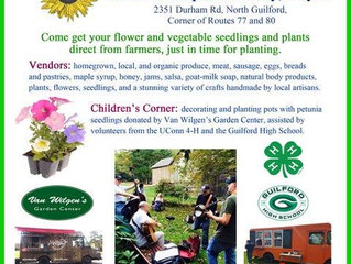 Dudley Farmers' Market Opening Day May 19, 2018 - Oct. 27, 2018 - 9 - 12:30