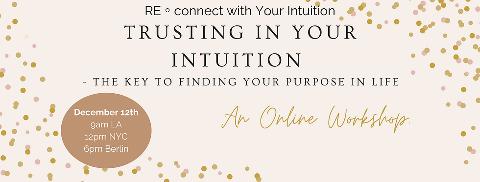 Trusting In Your Intuition - The Key To