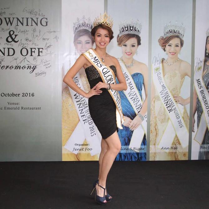 Meet Tracie Chan -- Mrs Global United 2016 (Malaysia)