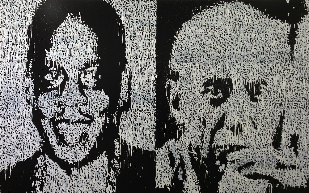 Jay-Z and Picasso by Jonas SUN7 ®Catherine Ahell Gallery