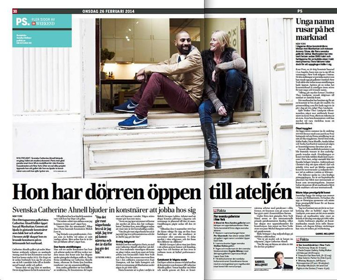 Catherine Ahnell Gallery featured in Dagens Industri (DI)
