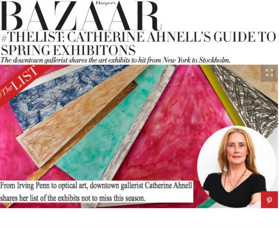 Catherine Ahnell lists exhibitions for Harper's Bazaar