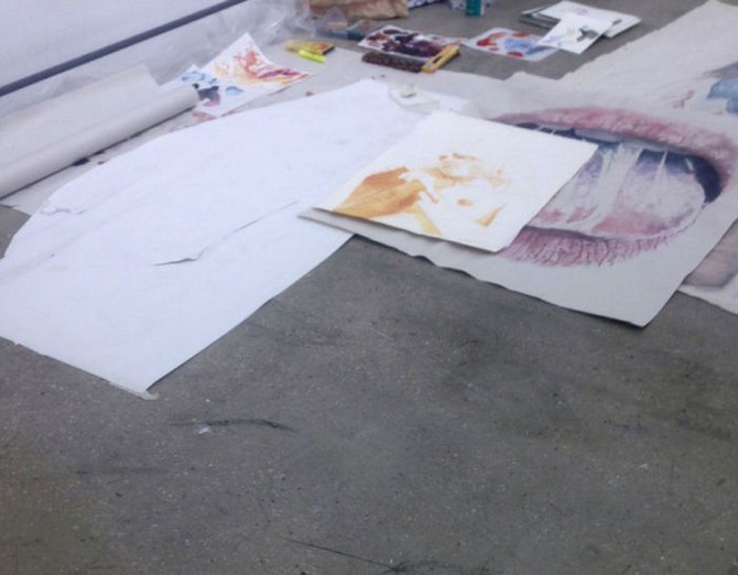 Exclusive behind the scenes from the gallery studio