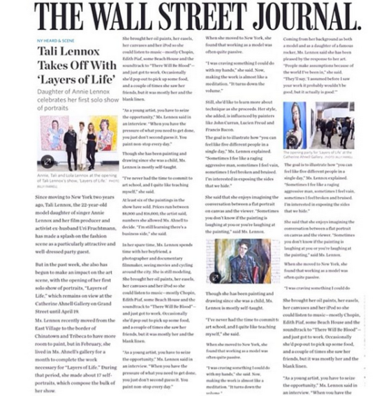 Featured by the WALL STREET JOURNAL
