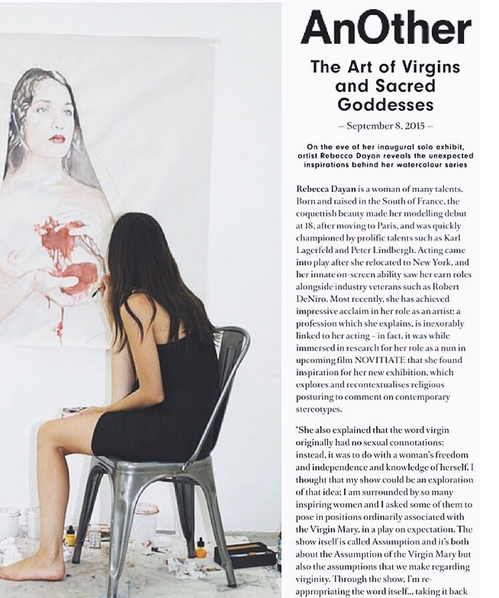 Rebecca Dayan to Another Magazine on religion, freedom and the word 'virgin'