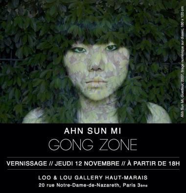 Ahn Sun Mi exposing in Paris