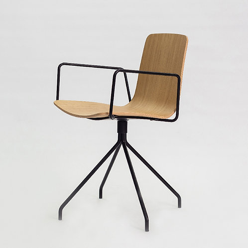 Klip Chair (Swivel base with arms)