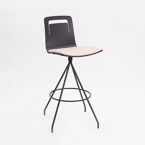 Klip Swivel Bar Stool  (Cushion and Handle)