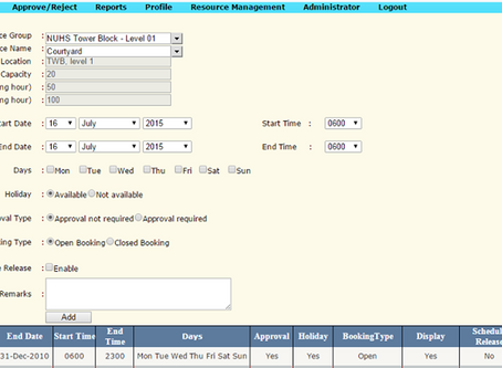 Web Based Resource Booking System