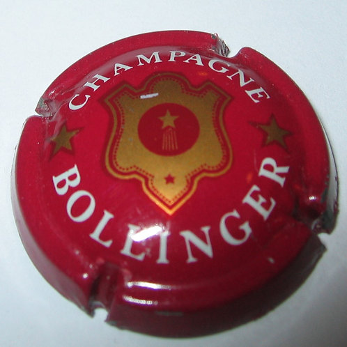 CHAMPAGNE BOLLINGER GOLD ON RED