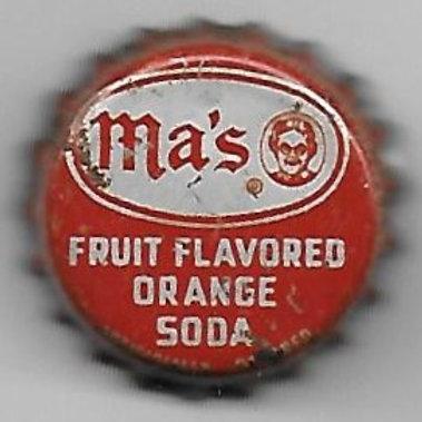 MA'S FRUIT FLAVORED ORANGE SODA