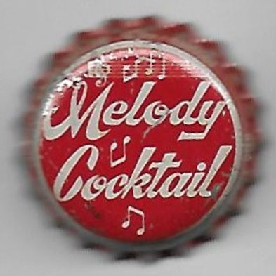 MELODY COCKTAIL WHITE ON RED