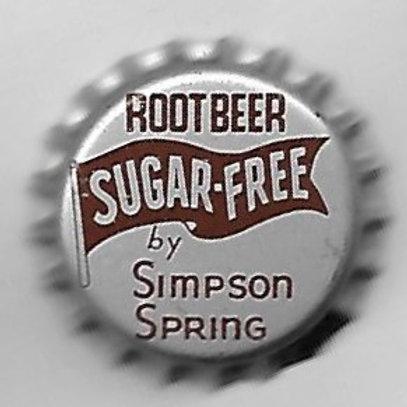 SIMPSON SPRING ROOT BEER SUGAR FREE