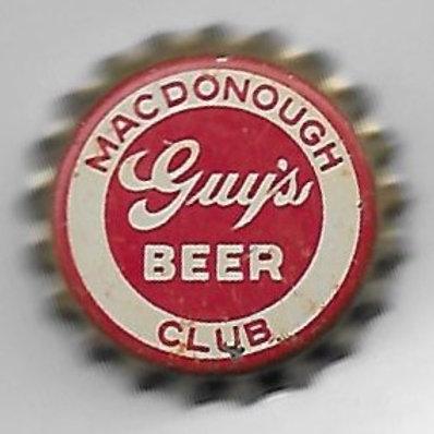 MACDONOUGH CLUB GUY'S BEER