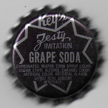 KEY'S ZESTY IMITATION GRAPE SODA