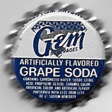 GEM BEVERAGES GRAPE SODA
