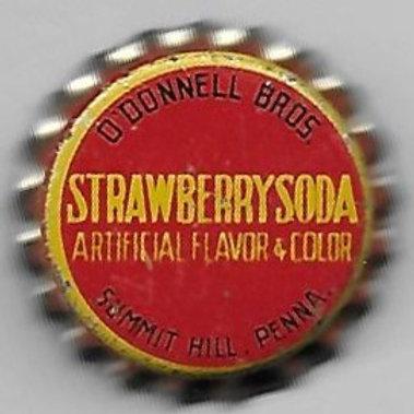 O'DONNELL BROS. STRAWBERRY SODA