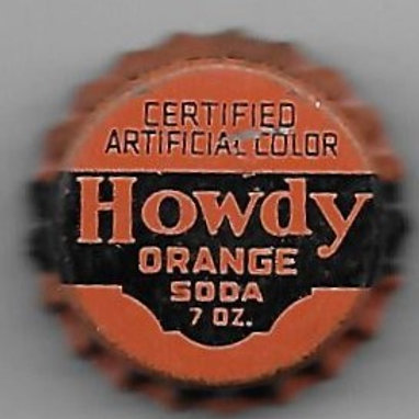 HOWDY ORANGE SODA PIN