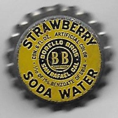 BORELLO BROS STRAWBERRY SODA WATER SOLID CORK