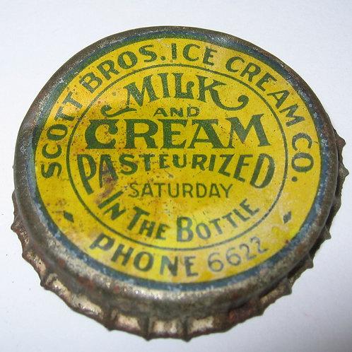 SCOTT BROS. ICE CREAM CO. MILK AND CREAM