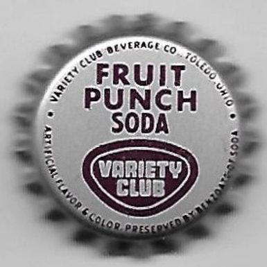 VARIETY CLUB FRUIT PUNCH SODA