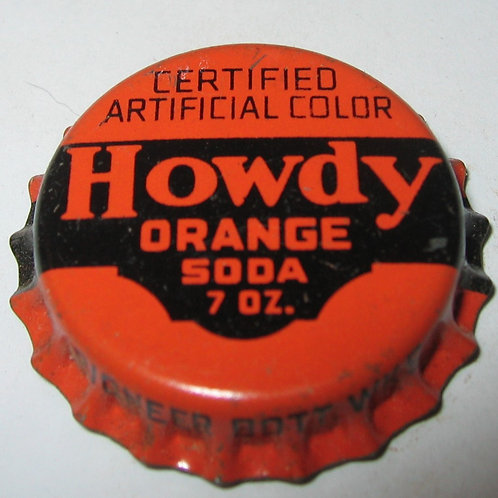 HOWDY ORANGE SODA MAGNET