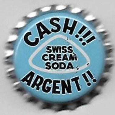 PURE SPRINGS SWISS CREAM SODA; CASH!!! ARGENT!!!; CANACA