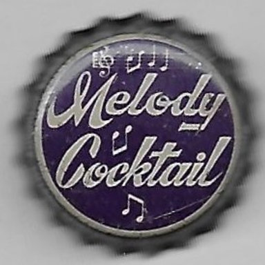 MELODY COCKTAIL WHITE ON PURPLE