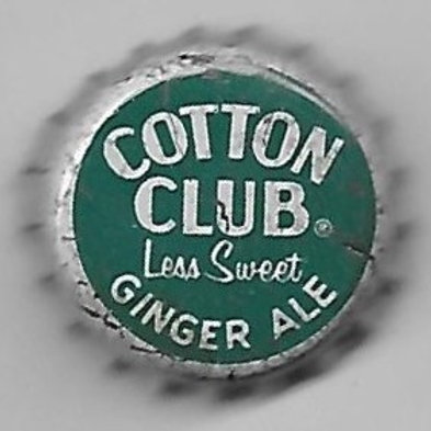 COTTON CLUB GINGER ALE LESS SWEET