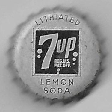 7 UP LITHIATED LEMON SODA, 1930's