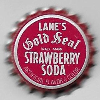 LANE'S STRAWBERRY SODA GOLD SEAL