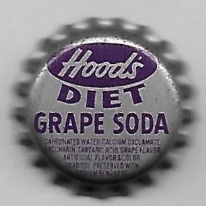 HOOD'S GRAPE SODA, DIET