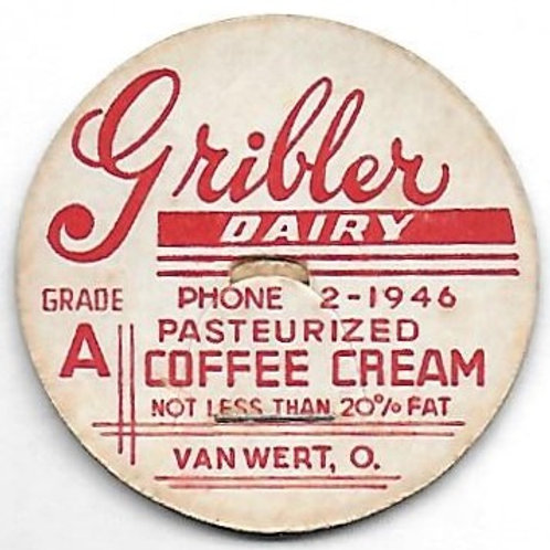 GRIBLER DAIRY PASTEURIZED COFFEE CREAM POG