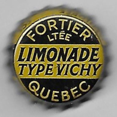 FORTIER LIMONADE TYPE VICHY; QUEBEC